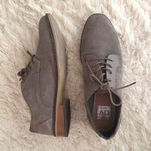 Dolce Vita Grey Suede Oxfords